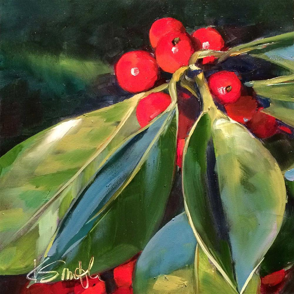 """holly"" original fine art by Kim Smith"