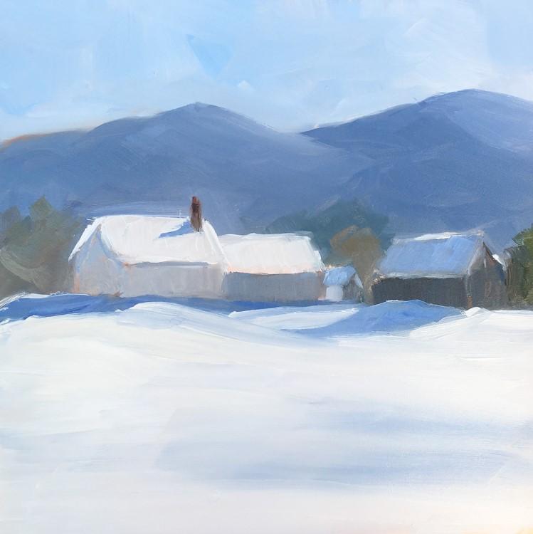 """119 - Farmhouse - Morristown, VT"" original fine art by Sara Gray"