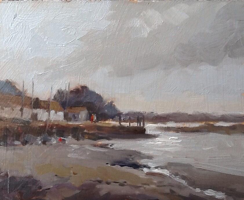 """Brancaster Staithe, Norfolk"" original fine art by Mo Teeuw"