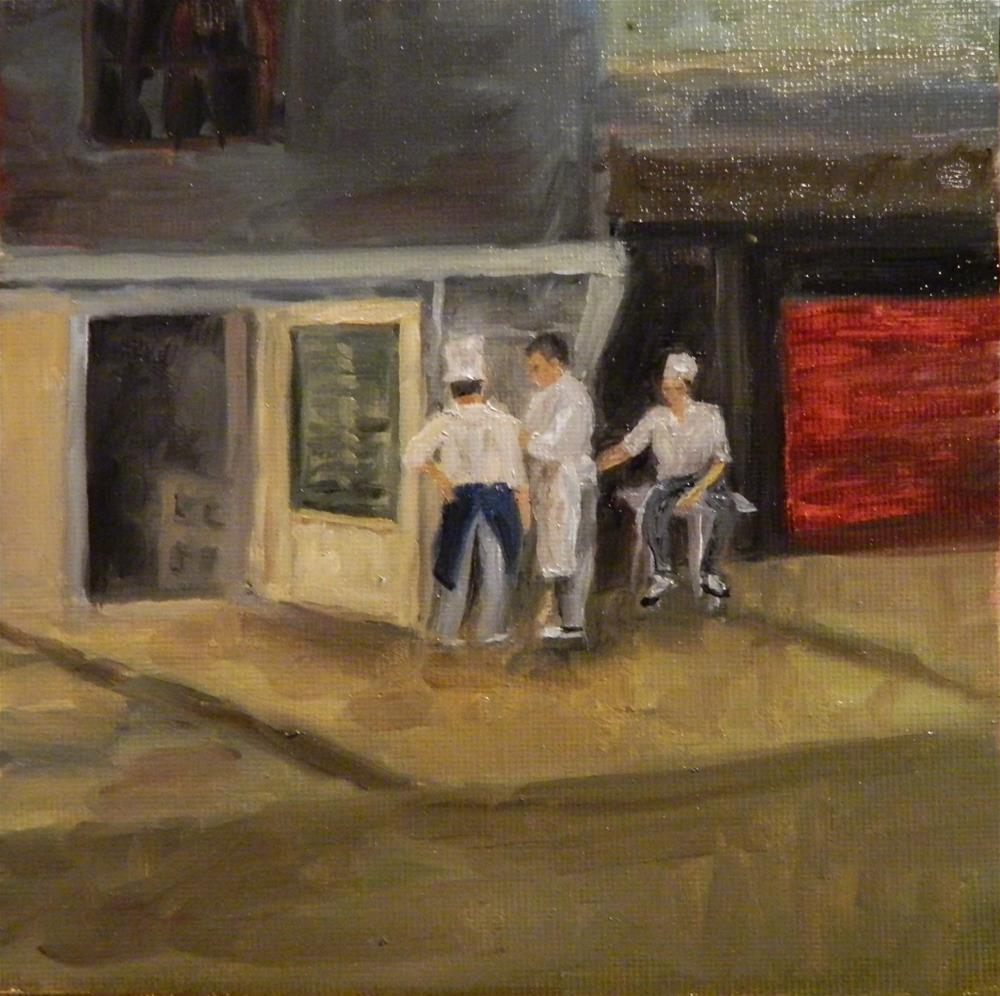 """Chefs' Break"" original fine art by Debra Shore"