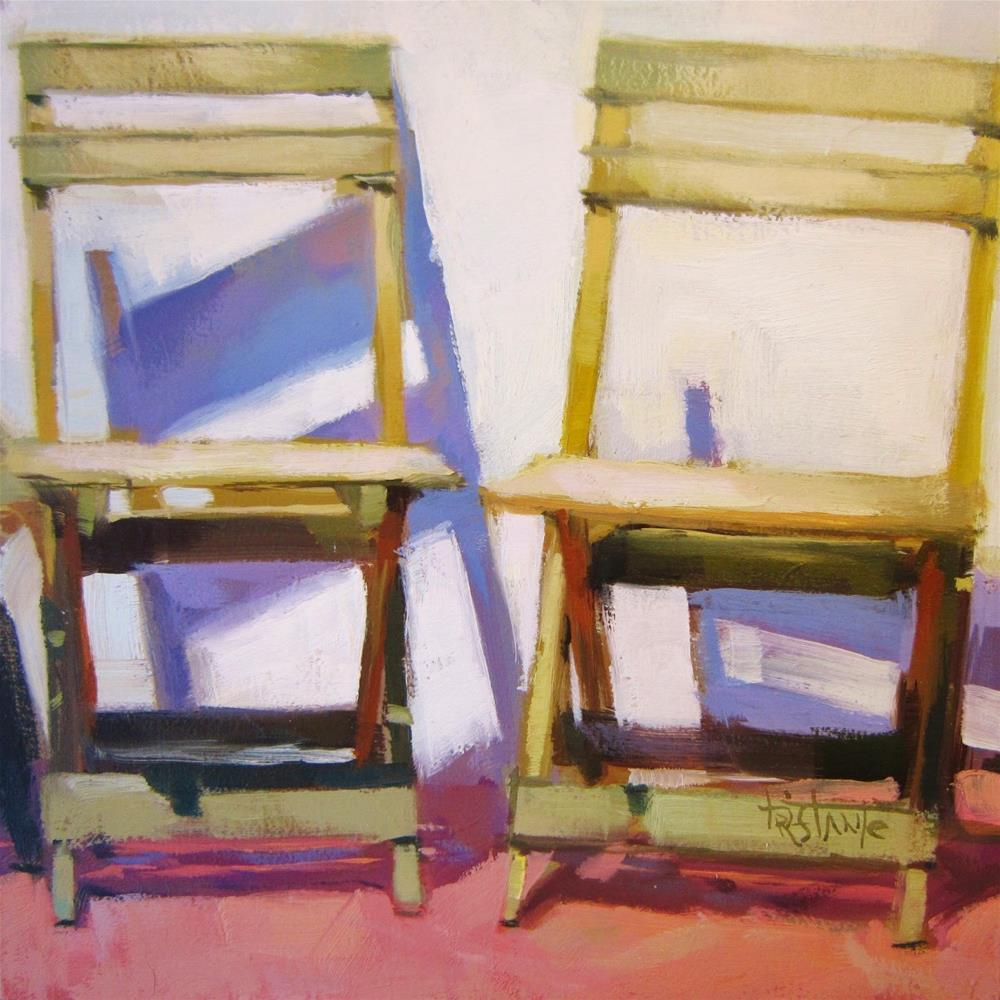 """""""Two chairs"""" original fine art by Víctor Tristante"""