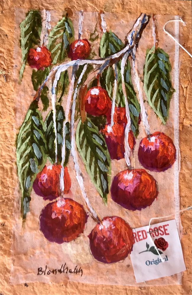 """Cherry Tree"" original fine art by Linda Blondheim"