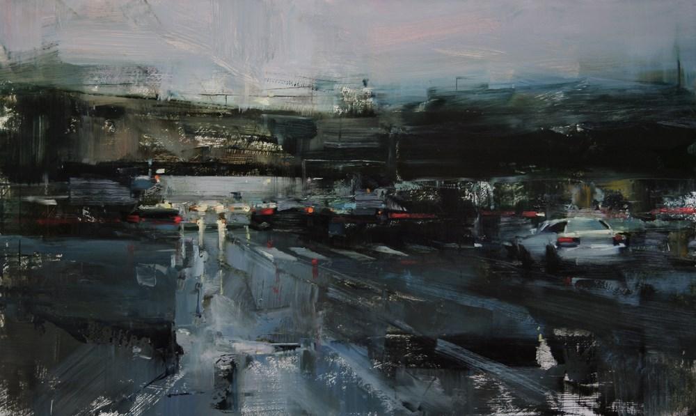 """""""Friday Evening"""" original fine art by Tibor Nagy"""