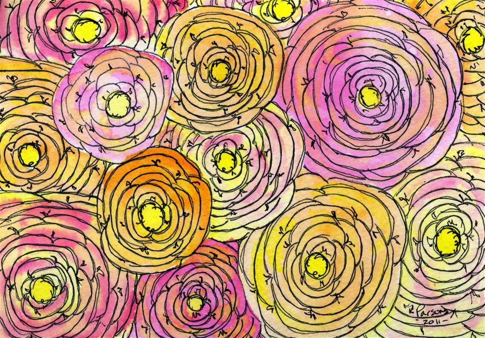 """Full-o-Flowers"" original fine art by Kali Parsons"