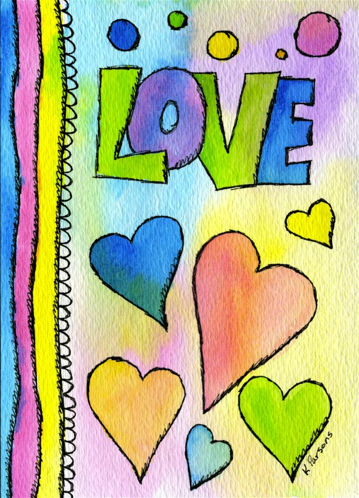 """Book of Love"" original fine art by Kali Parsons"