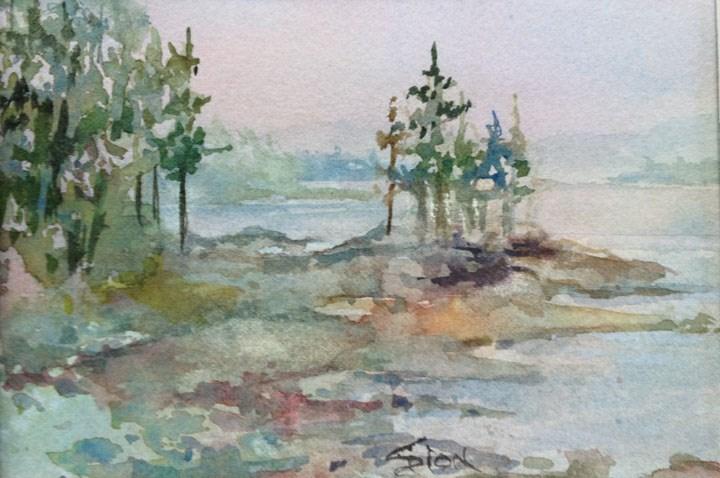 """Maine Coast 1"" original fine art by Sue Dion"