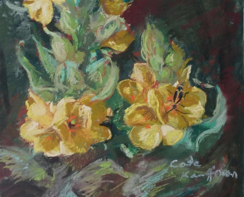 """Mullein flower"" original fine art by Catherine Kauffman"