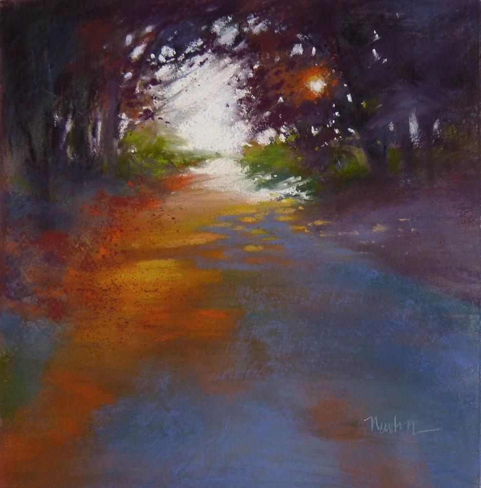 """Sunset"" original fine art by Barbara Benedetti Newton"