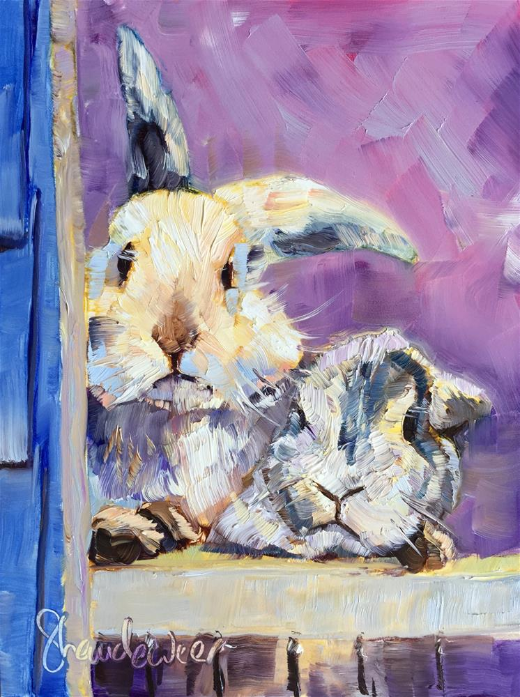 """Bunnies"" original fine art by Carol Baehren Landeweer"