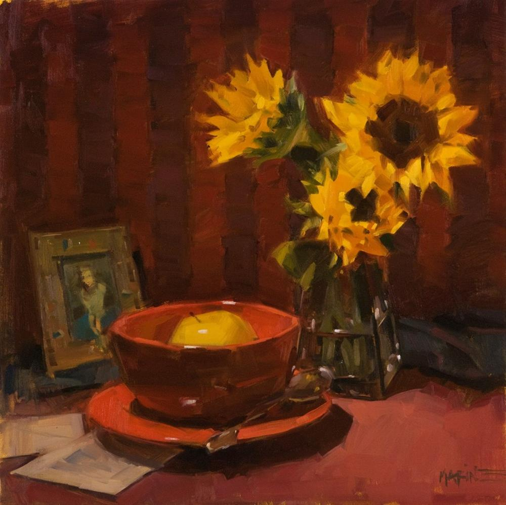 """Apple Soup"" original fine art by Carol Marine"