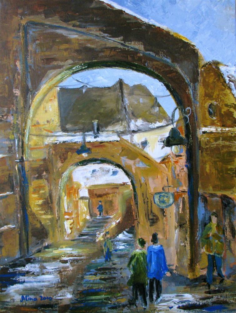 """""""Stairs Passage"""" original fine art by Alina Vidulescu"""