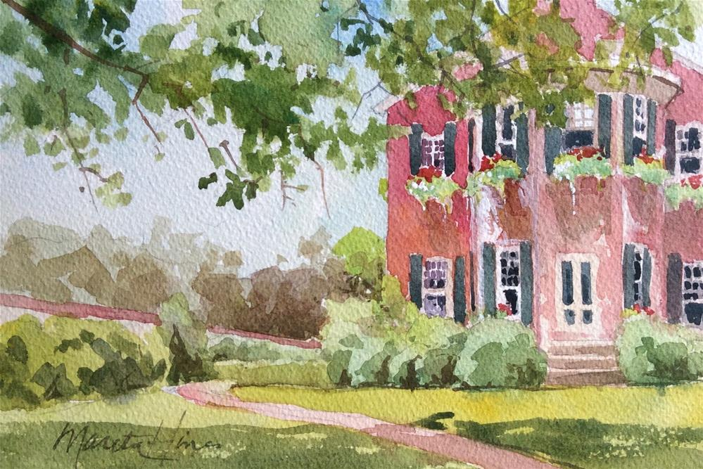 """East Wing (Conestoga House)"" original fine art by Marita Hines"
