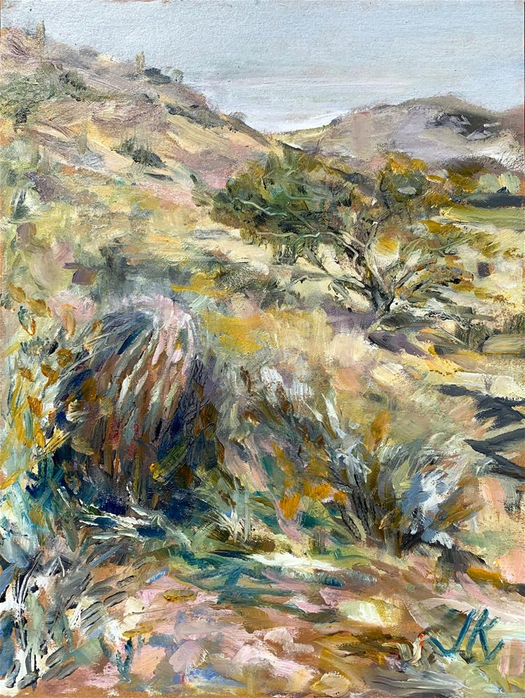 """Desert, Maricopa County, AZ"" original fine art by Jean Krueger"