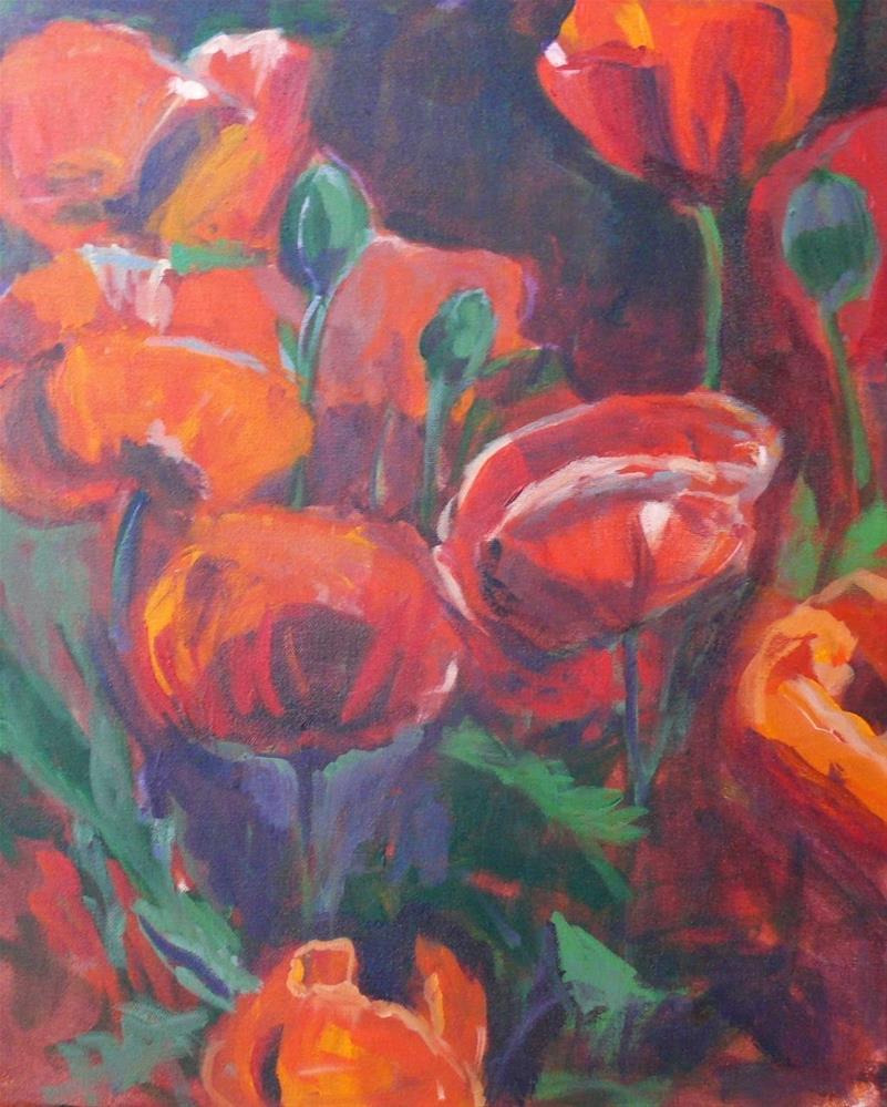 """733 Poppies From the Michigan Street Community Garden"" original fine art by Darlene Young"