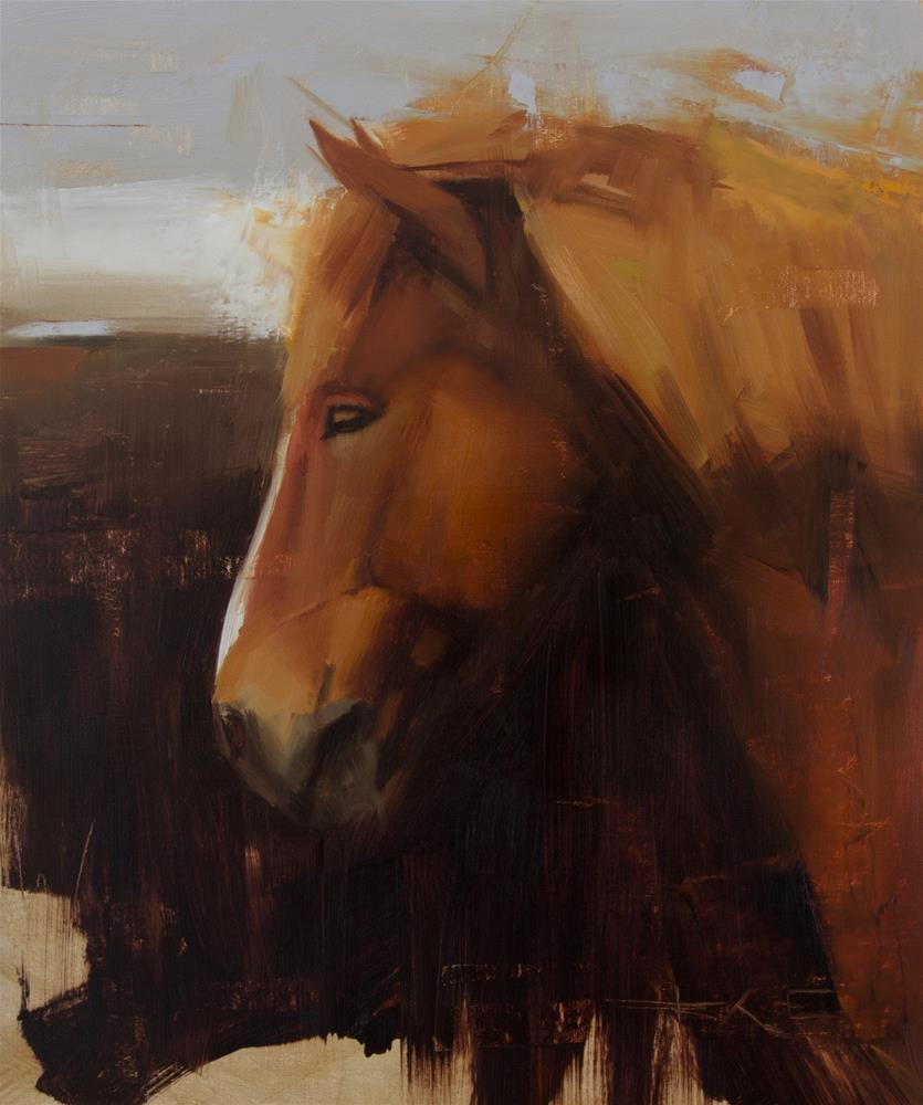 """""""Icelandic Horse"""" original fine art by Thorgrimur Andri Einarsson"""