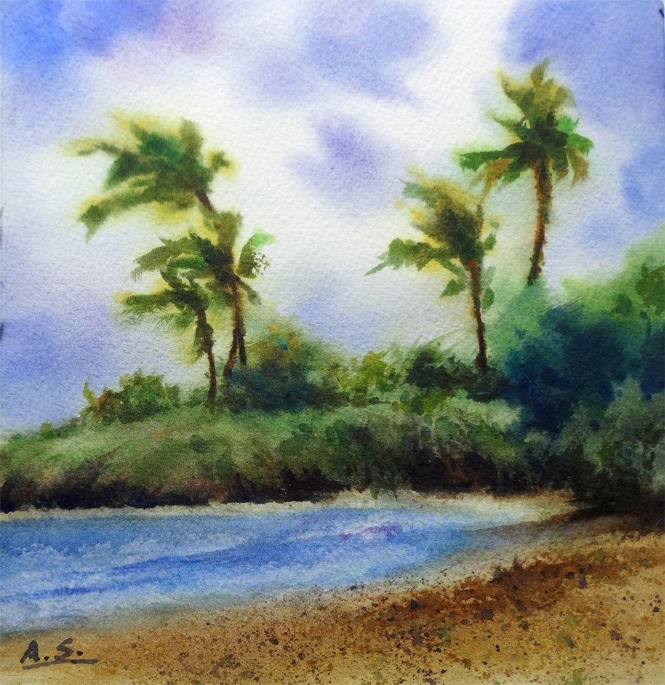 """September Wind"" original fine art by Arena Shawn"