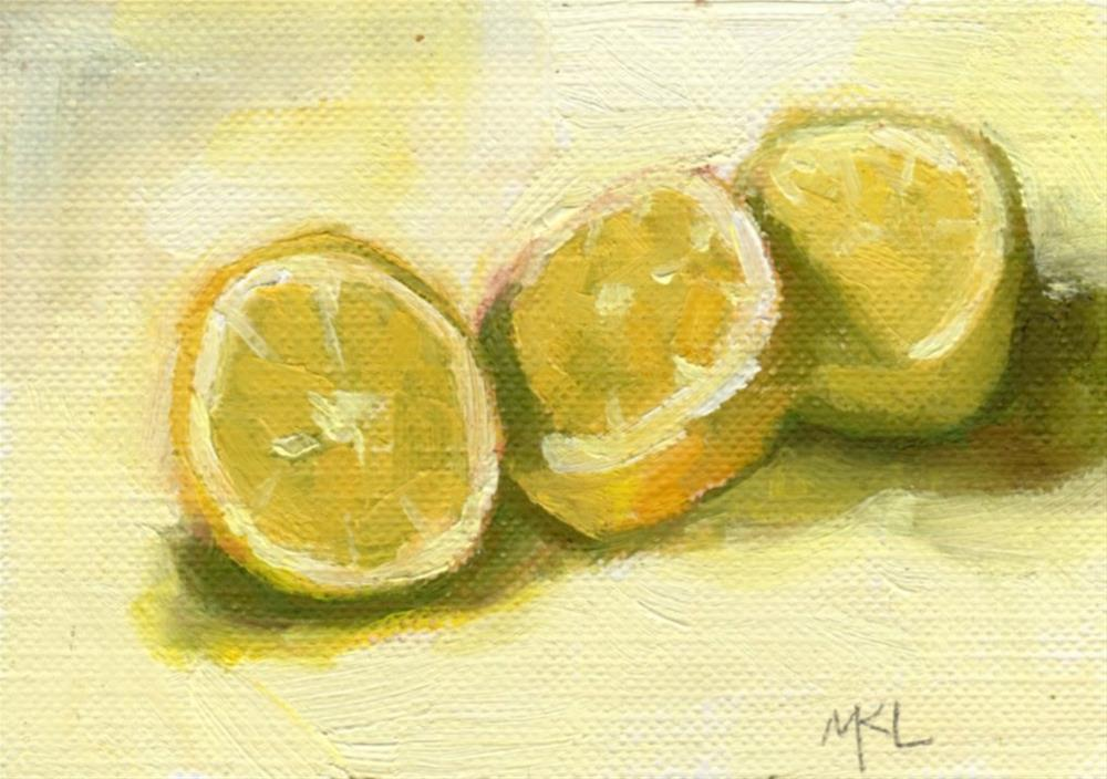 """Lemon Slices"" original fine art by Marlene Lee"