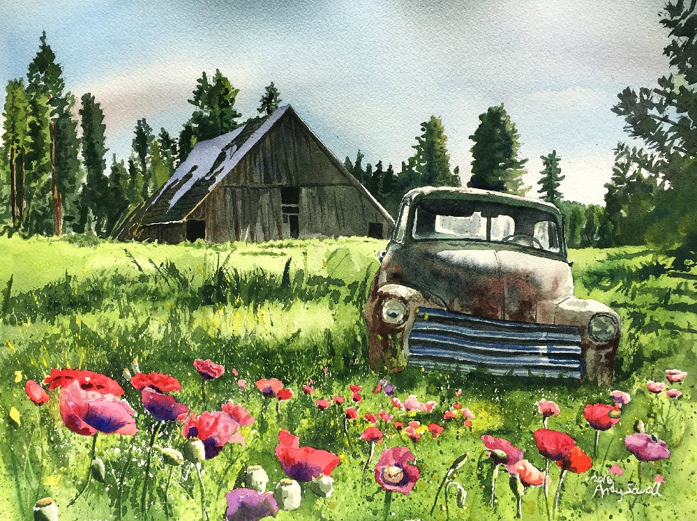 """""""June Chevy"""" original fine art by Andy Sewell"""