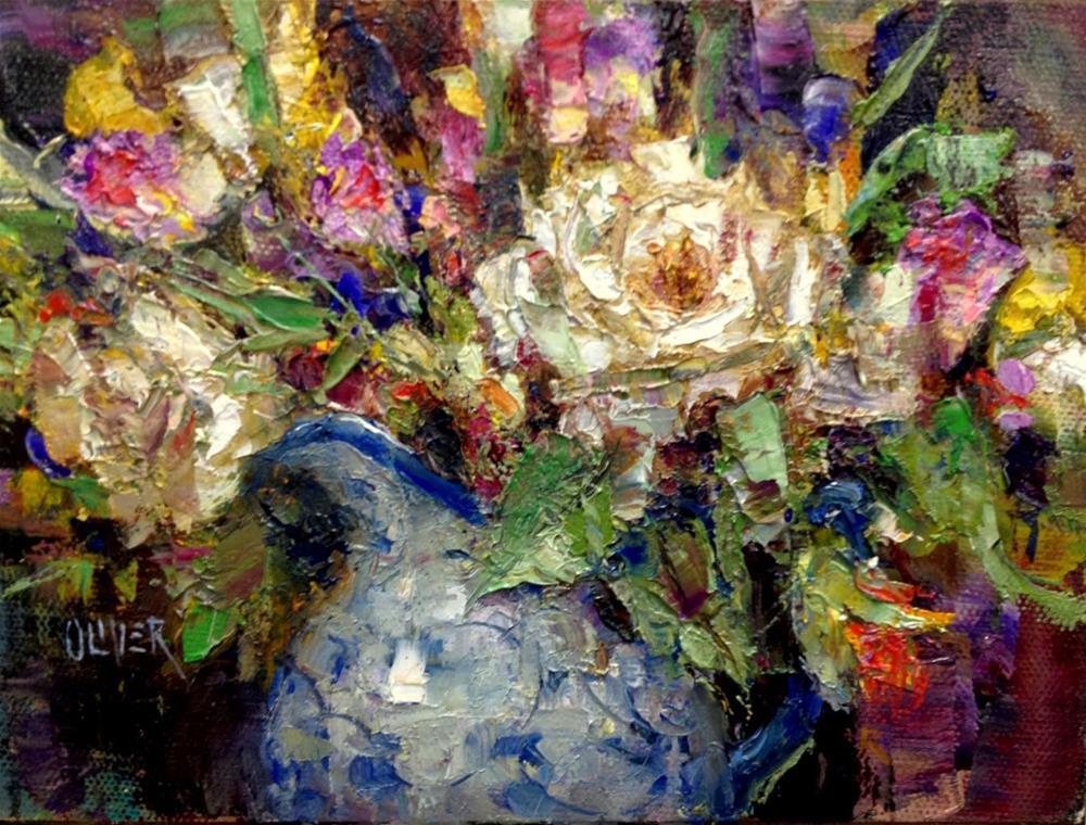 """Birthday Flowers"" original fine art by Julie Ford Oliver"