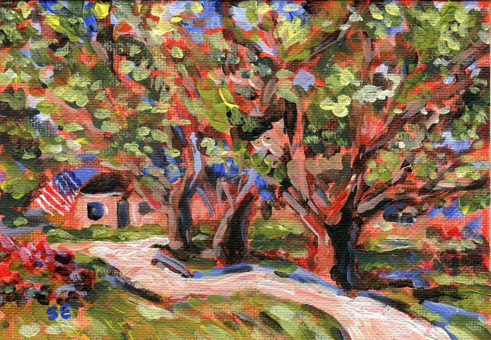 """""""Fauve of July"""" original fine art by Stanley Epperson"""