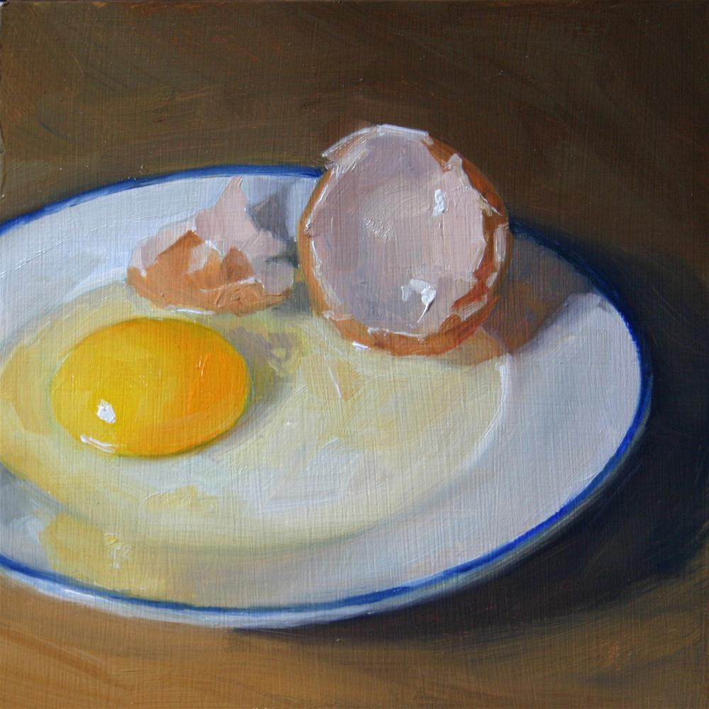 """Cracked Open"" original fine art by Liz Balkwill"