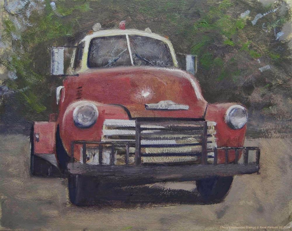 """Chevy Loadmaster. Drempt, Holland."" original fine art by René PleinAir"