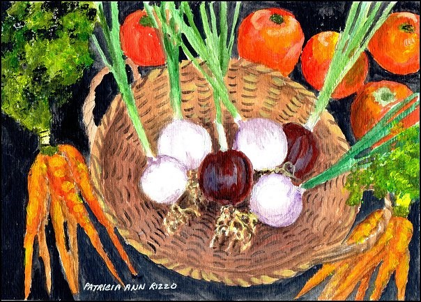 """Root Vegetables"" original fine art by Patricia Ann Rizzo"