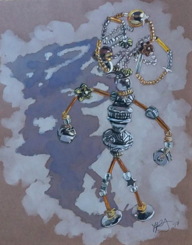"""I, Robot"" original fine art by Jennifer Krentz"
