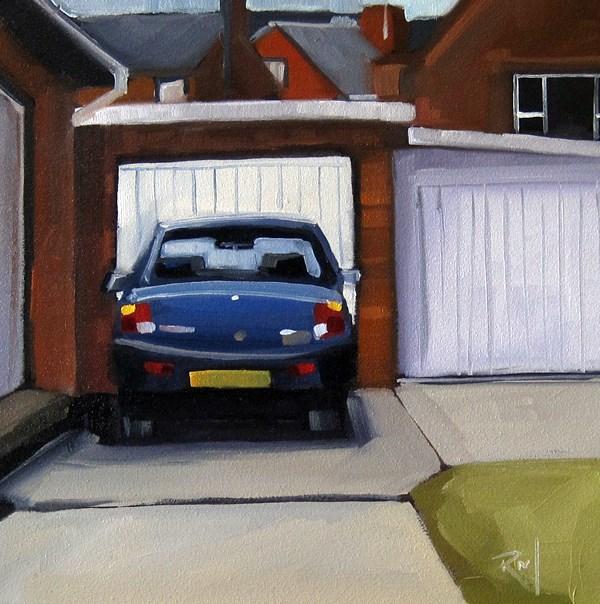 """No 810 Driveway Treasures No 5"" original fine art by Robin J Mitchell"