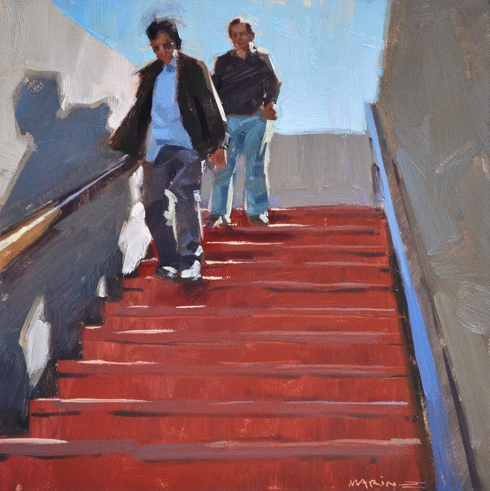 """""""Heading Underground"""" original fine art by Carol Marine"""