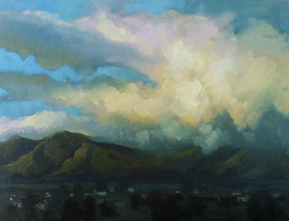 """Desert Becomes Night"" original fine art by Mary Mulvihill"
