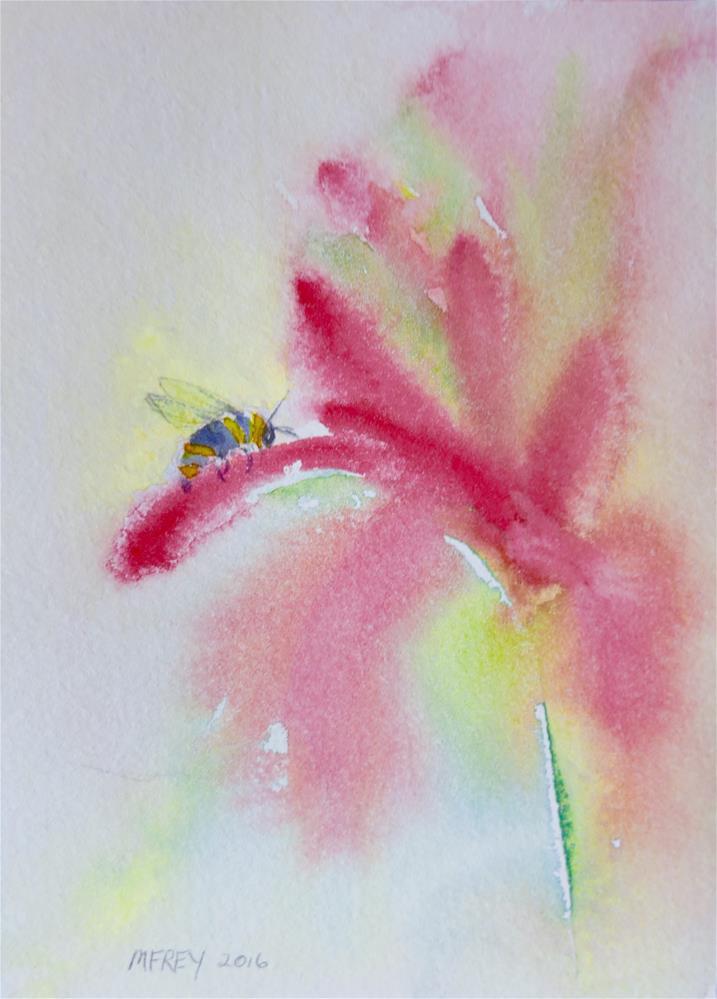"""Floral 0122"" original fine art by Michelina Frey"