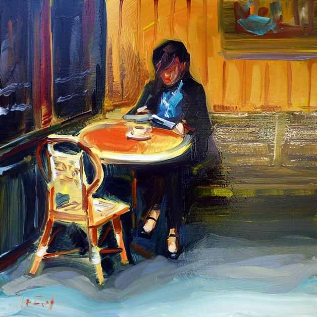 """Café"" original fine art by Jurij Frey"