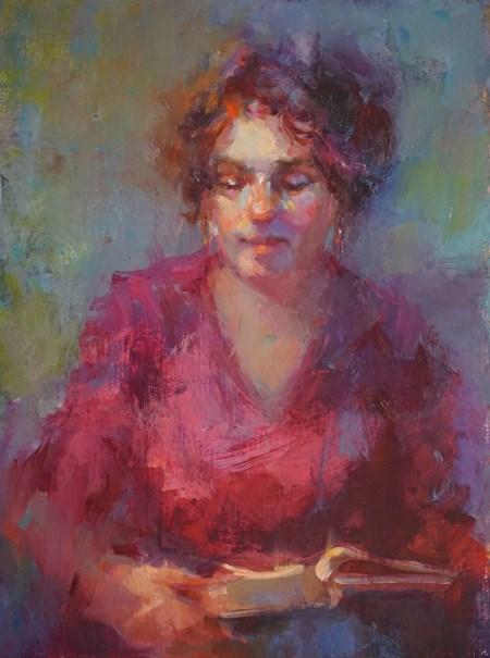 """Dream Reader"" original fine art by Carol Myer"