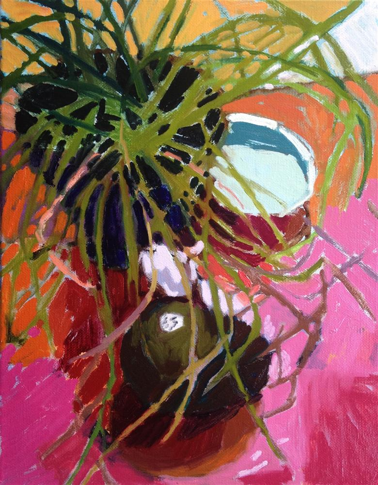 """Chives, Avacado, Garlic and Dish"" original fine art by Pamela Hoffmeister"