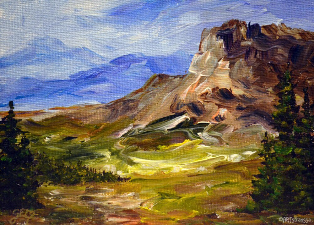 """Sun Highway View"" original fine art by Gloria Ester"