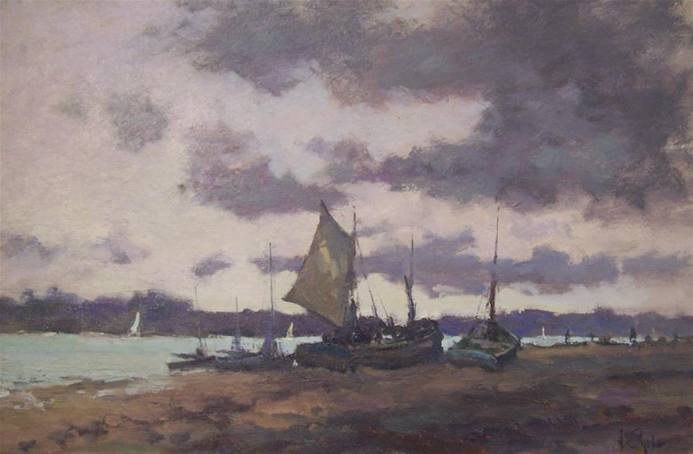"""Drying Sails"" original fine art by John Shave"