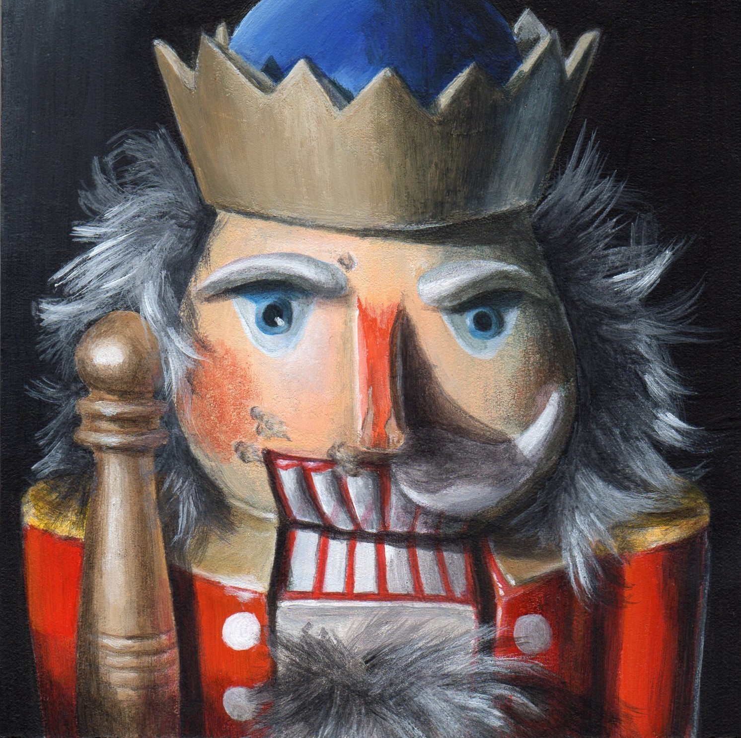 """Wicked Nutcracker"" original fine art by Debbie Shirley"