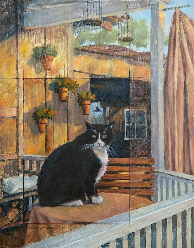 """The Greeter"" original fine art by Terry Houseworth"