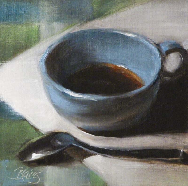 """Morning Coffee"" original fine art by Pamela Blaies"