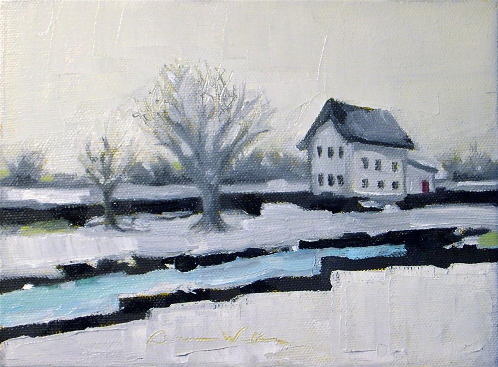 """Farmhouse Solace"" original fine art by Donna Walker"