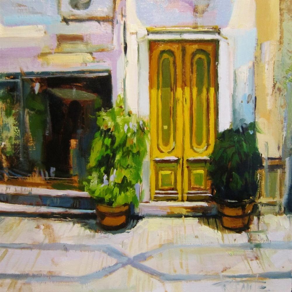 """""""Yellow door"""" original fine art by Víctor Tristante"""