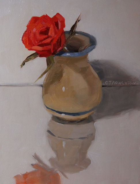 """A Rose For You"" original fine art by C J Roughton"