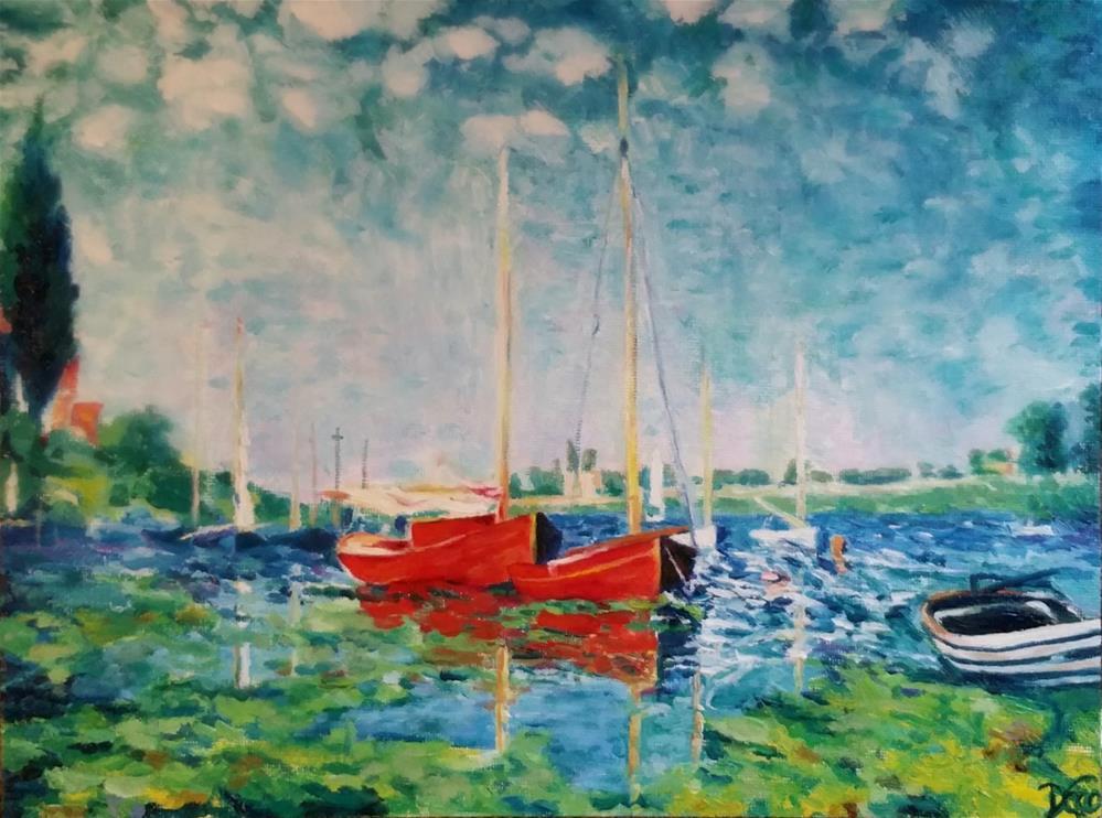 """Monet Boating"" original fine art by Dana C"