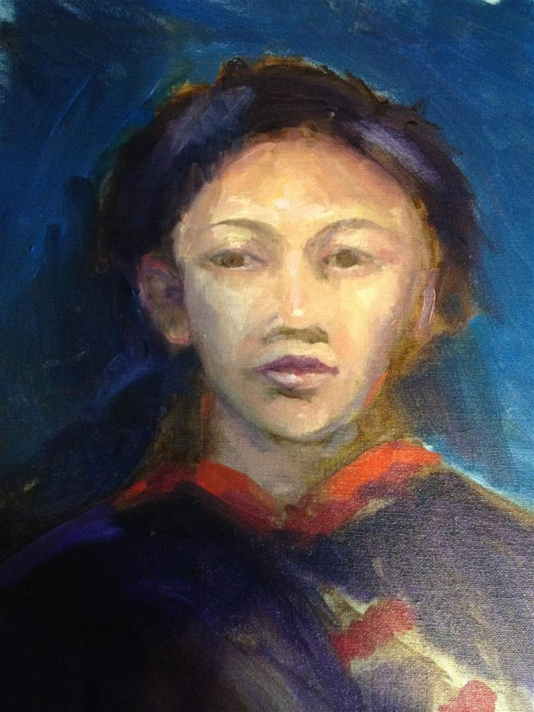 """Portrait"" original fine art by Carol Josefiak"