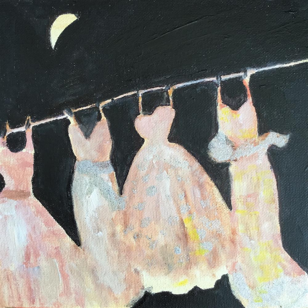 """Emergency ball gowns"" original fine art by pamela kish"