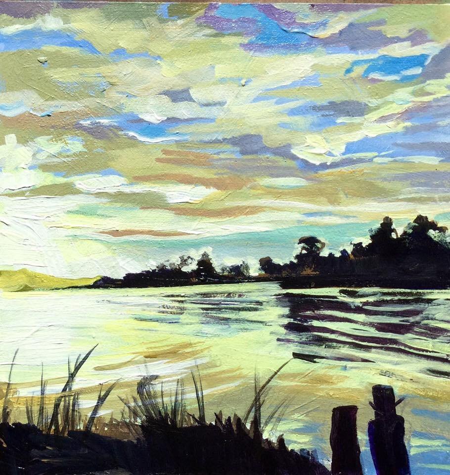 """""""Bay View"""" original fine art by Lauren Kuhn"""