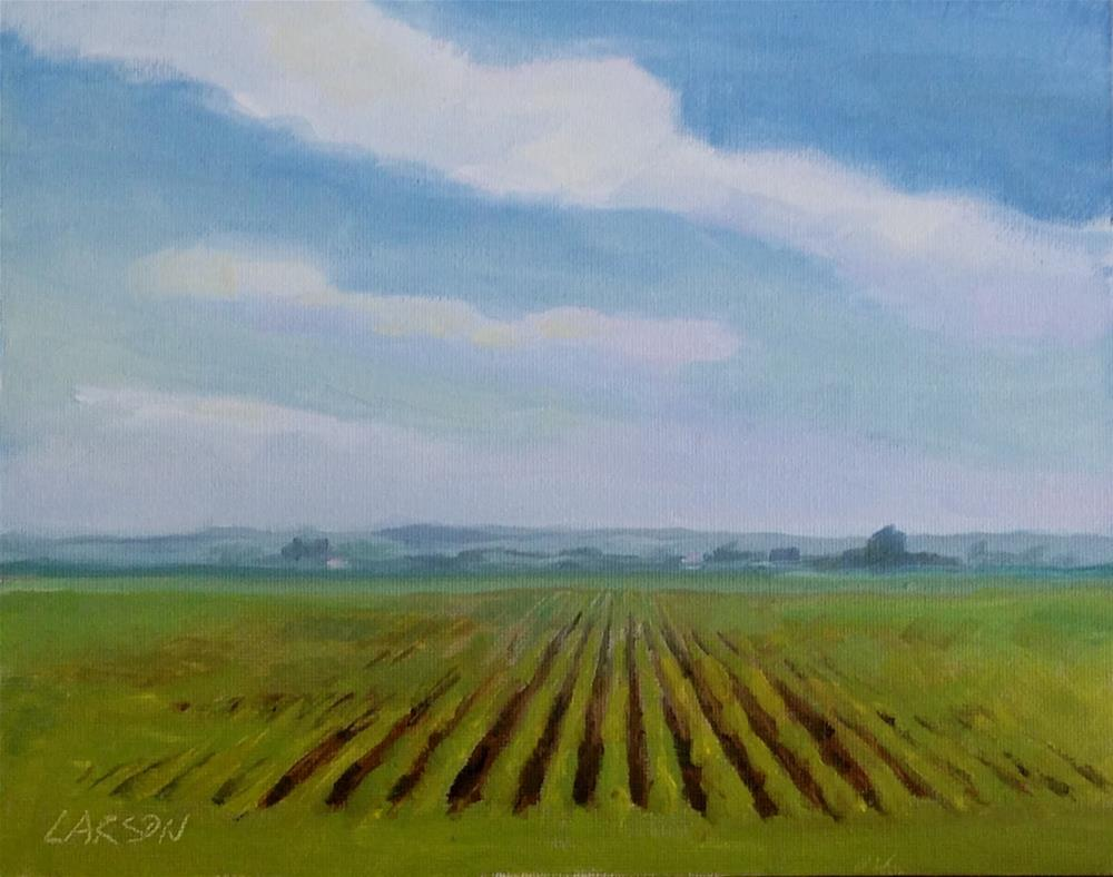 """Looking West from Hobe Road"" original fine art by Eric Larson"