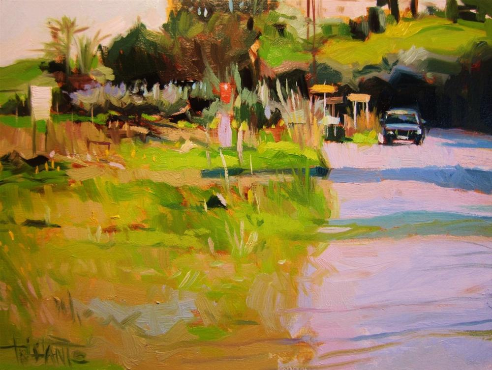 """Fork on the road"" original fine art by Víctor Tristante"