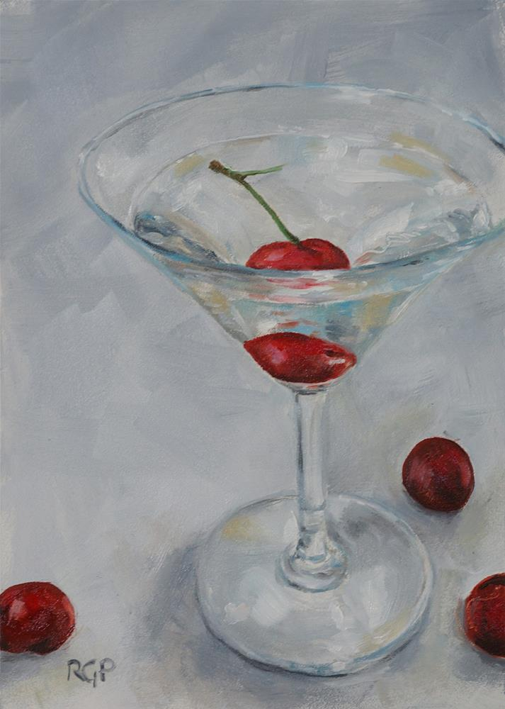 """Cherrytini"" original fine art by Rhea  Groepper Pettit"